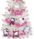 Albero-di-Natale-HELLO-KITTY-Bianco-con-12-decori-e-ghirlanda-0-0