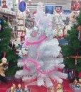 Albero-di-Natale-HELLO-KITTY-Bianco-con-12-decori-e-ghirlanda-0-2