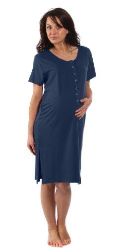 Camicia-da-gravidanza-in-Bamboo-Per-Gravidanza-parto-allattamento-e-contatto-con-il-bimbo-Blu-notte-Pre-gravidanza-taglie-S-piccola-IT-36-38-0