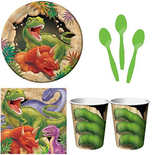 Kit-festa-compleanno-bambino-dinosauri-8-persone-con-cucchiaini-0
