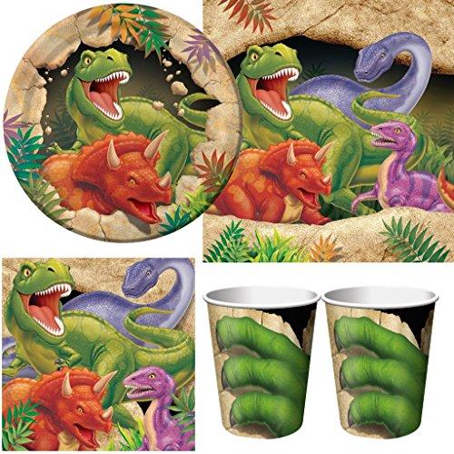 Kit-festa-compleanno-bambino-dinosauri-8-persone-con-tovaglia-0