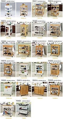 SoBuy® Carrello cucina di Bambù, Carrello di servizi, Tavolo da ...