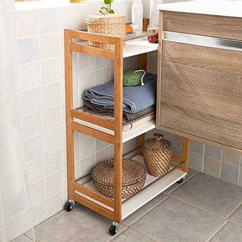 Sobuy carrello cucina scaffale da bagno carrellino for Salvaspazio cucina