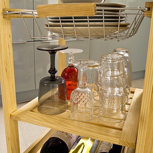SoBuy® trolley, Scaffale da cucina , Mensola angolare , Legno ...