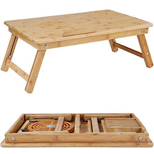 Miadomodo tavolino da letto portatile dimensioni circa 55 29 35 cm con ventola usb - Tavolino da letto per pc ...