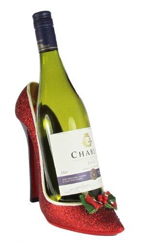 B008Q9FKNE-Fitting-Gifts-2340-Porta-bottiglie-per-vino-natalizio-a-forma-di-decolt-con-brillantini-colore-Rosso-Un-regalo-di-Natale-perfetto-e-divertente-0