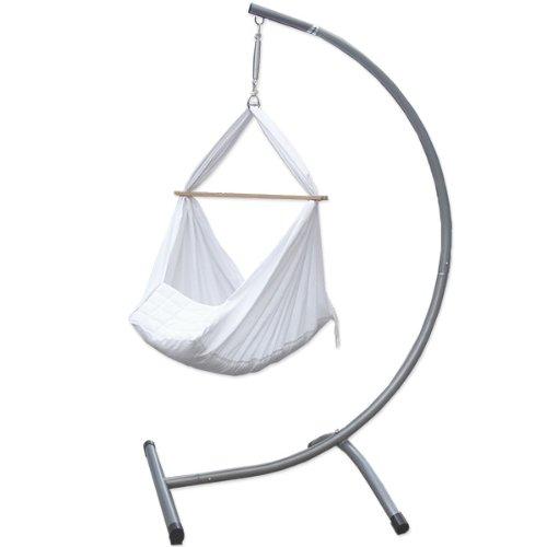 Bambini-Amaca-stand-Bianco-Capacit-di-carico-max–50-kg-Dimensioni-Telaio-circa-100x80x170cm-amaca-cuscino-in-tessuto-di-cotone-non-irrita-la-pelle-divertente-altalena-morbido-0