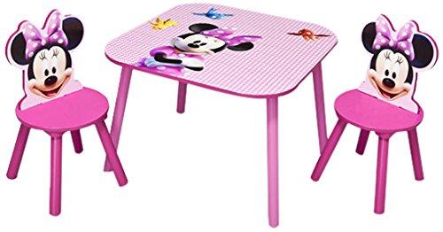 Disney minnie set tavolo 2 sedie in legno idee regalo for Sedie in regalo