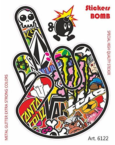 Adesivi-Sticker-Bomb-Mano-Fuck-10-x-12-cm-0