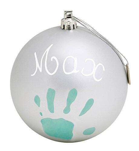 Baby-Art-Pallina-di-Natale-in-Plastica-Set-per-Disegnare-Impronta-Bambino-0