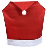 Copri-Sedie-Cappello-di-Babbo-Natale-Pacco-da-6-Cover-Decorazione-Natalizia-Festa-0-0
