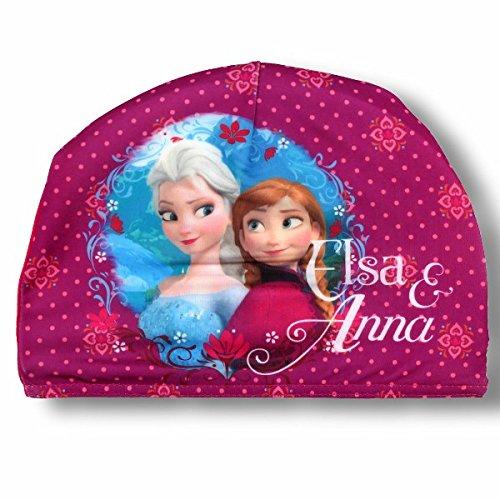 Frozen-Disney-Cuffia-Bambina-in-Tessuto-Elasticizzato-Piscina-Mare-Elsa-e-Anna-Prodotto-Originale-Novit-0