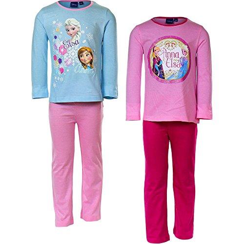 Frozen-Disney-Elsa-Anna-Pigiama-2-pezzi-Maglia-Maniche-Lunghe-e-Pantaloni-Novit-2015-0