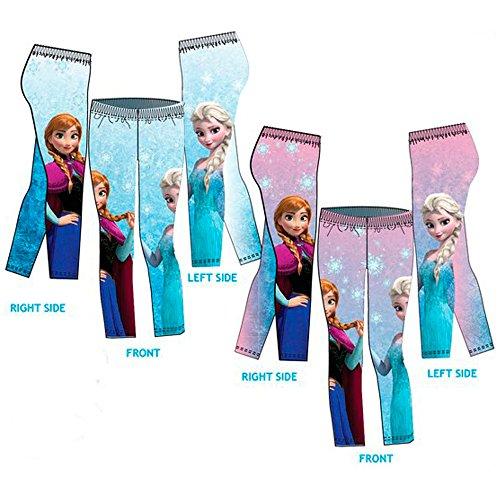 Frozen-Disney-Elsa-e-Anna-Leggings-Bambina-Stampati-su-Tutta-la-Superfice-Novit-Prodotto-Originale-HO1540-0