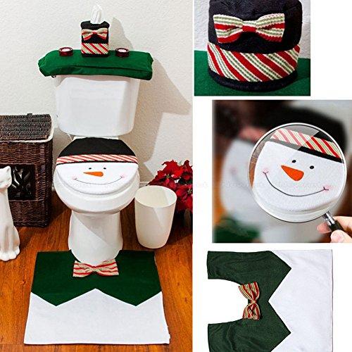 Highdas-Nuovo-Decorazioni-di-Natale-felice-Santa-Toilet-Seat-Cover-Tappeto-Bathroom-0
