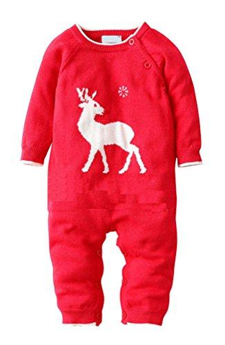 Keral-Natale-Bambino-Salopette-Davidsdeer-Manica-Lunga-Pagliaccetto-Pigiama-0