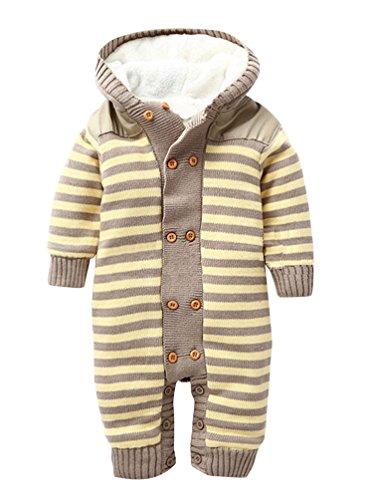Keral-Natale-Salopette-Maglieria-Velluto-Bambino-Bodysuit-Stripe-Cappuccio-Pigiama-0