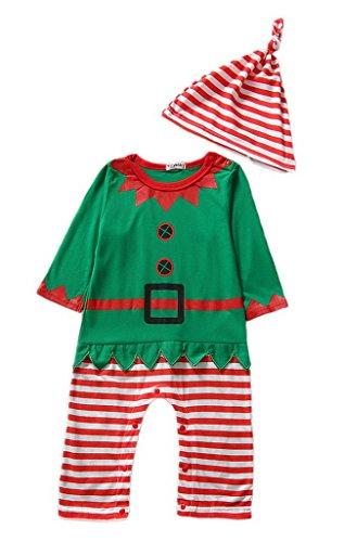 La-Vogue-Elfo-Natale-Pagliaccetto-Tutina-di-Cotone-per-Bambini-Bambine-Neonati-Pigiama-0