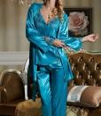 Amybria-donna-in-seta-di-alta-qualit-misto-a-manica-lunga-Set-da-3-pezzi-per-pigiama-e-Vestaglia-per-matrimonio-4-colori-0-0