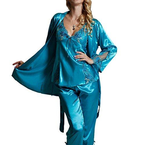 Amybria-donna-in-seta-di-alta-qualit-misto-a-manica-lunga-Set-da-3-pezzi-per-pigiama-e-Vestaglia-per-matrimonio-4-colori-0