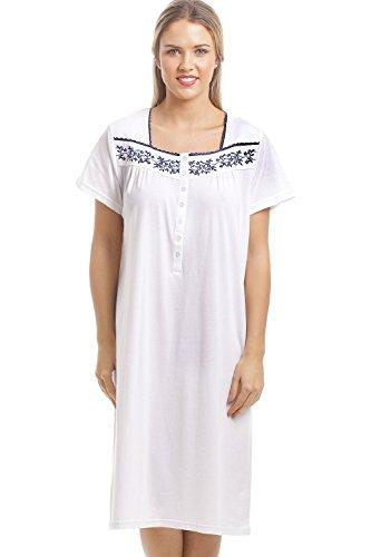 Camicia-da-notte-classica-con-motivo-floreale-blu-bianco-0