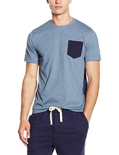 Cortefiel-Camiseta-Lisa-MC-Cuello-Pigiama-Uomo-0