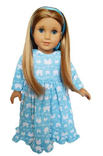 Camicia-da-notte-con-conigli-per-bambole-americane-0