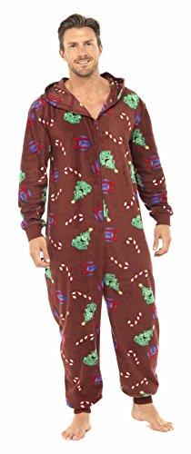 Da-uomo-con-cappuccio-di-Natale-Fun-All-in-One-pigiama-tuta-intera-0