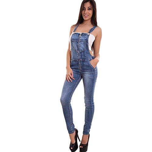 Toocool-Salopette-donna-jeans-overall-tuta-intera-tutina-skinny-zip-sexy-nuova-P0491-0